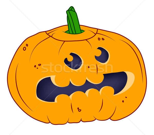 Funny Halloween pumpkin isolated on white Stock photo © Arsgera
