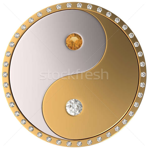 Ying Yang jewel sybmol Stock photo © Arsgera