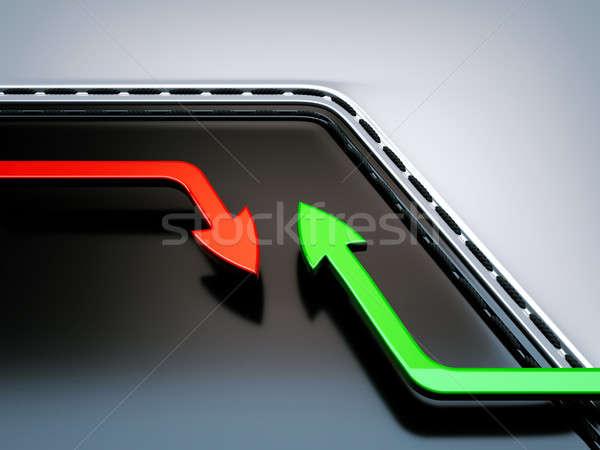 Crecimiento disminuyendo flechas útil negocios diseno Foto stock © Arsgera