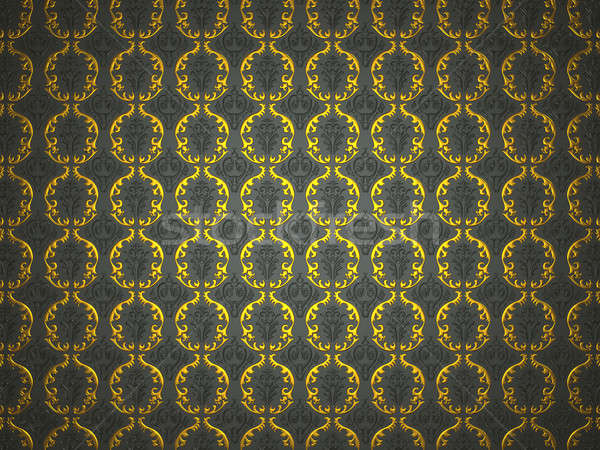 Material with golden and black victorian ornament Stock photo © Arsgera