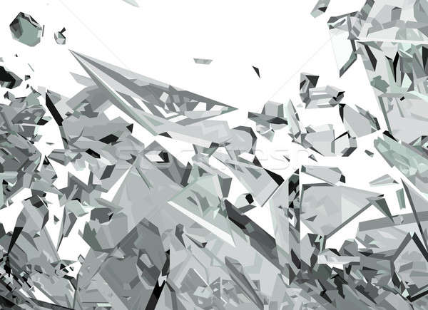 Demolished glass with sharp pieces Stock photo © Arsgera
