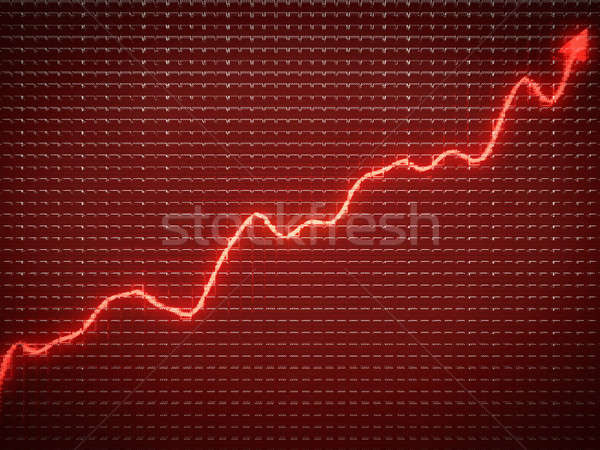 Red trend as symbol of financial growth Stock photo © Arsgera