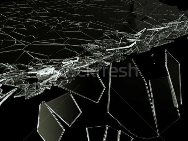 треснувший стекла черный большой разрешение аннотация Сток-фото © Arsgera