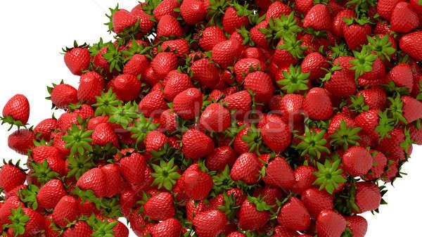 Fresh strawberry flow or stream Stock photo © Arsgera