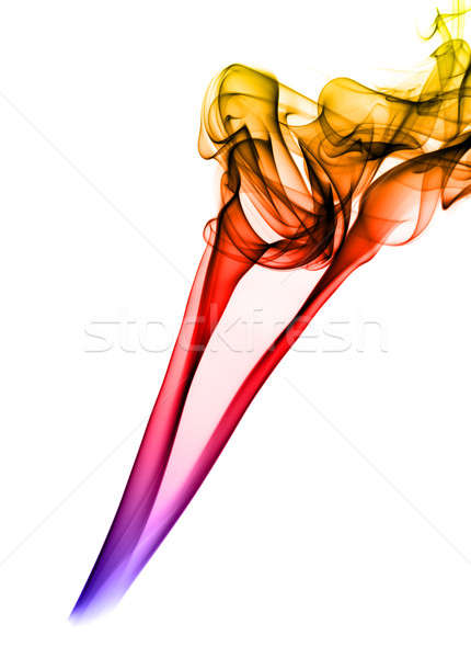 Yellow fume Abstraction on white Stock photo © Arsgera
