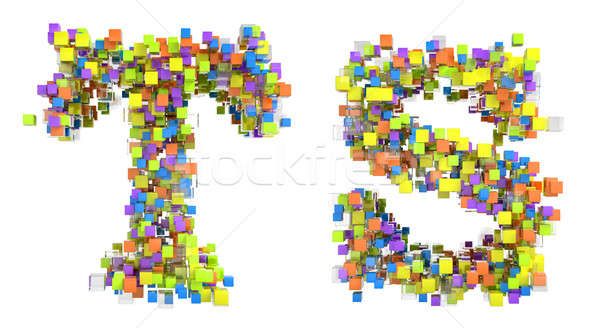 Abstract cubic font T and S letters Stock photo © Arsgera