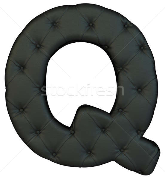 Luxury black leather font Q letter Stock photo © Arsgera