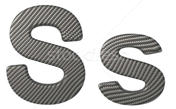 Carbon fiber font S lowercase and capital letters Stock photo © Arsgera