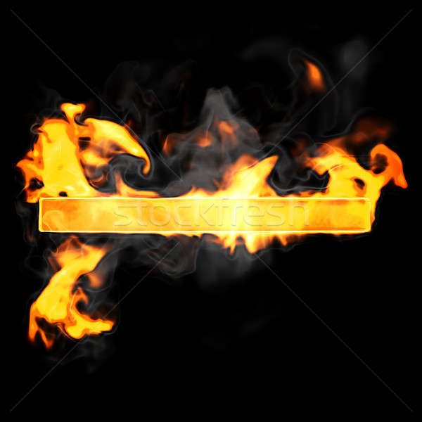 Stock photo: Burning and flame font hyphen symbol