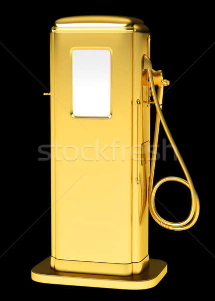 Expensive fuel: golden petrol pump isolated Stock photo © Arsgera