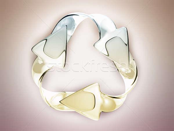 Ambiental sustentabilidade reciclagem assinar colorido Foto stock © Arsgera