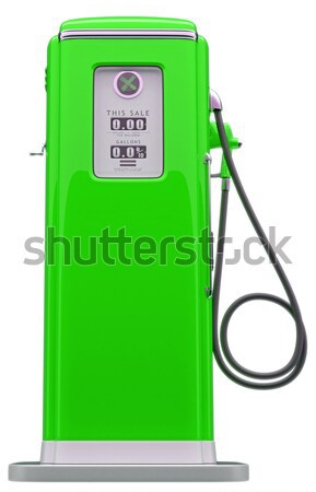 Green fuel: charging station for electric vehicle Stock photo © Arsgera