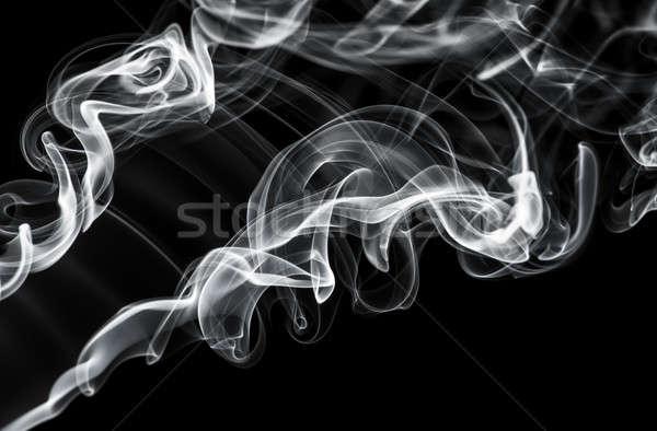 Abstract fume pattern: white smoke swirls and curves  Stock photo © Arsgera