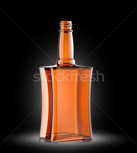 Red glass bottle for cognac or whisky Stock photo © Arsgera