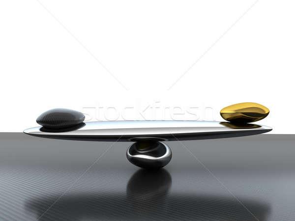 Egyensúly mérleg szénszál forma arany stabilitás Stock fotó © Arsgera