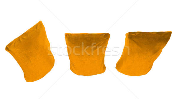 Top view of 3 Golden sacking packages for coffee  Stock photo © Arsgera