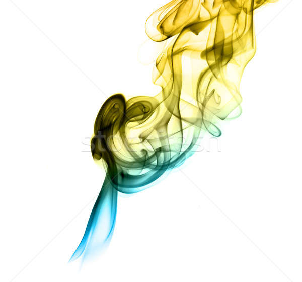 Stock photo: Gradient colored fume abstract shapes