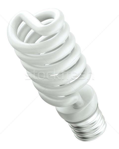 Eficiência energética isolado branco verde Foto stock © Arsgera