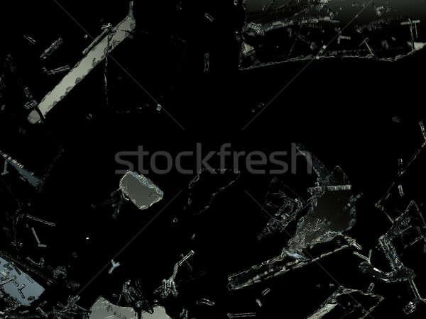 シャープ ピース 黒 ストックフォト © Arsgera