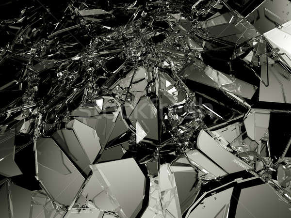 Many pieces of broken and Shattered glass Stock photo © Arsgera