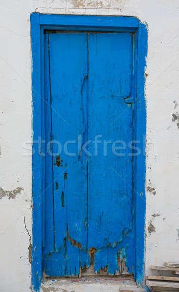 Azul porta Tunísia cultura parede Foto stock © Arsgera