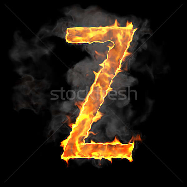 Burning and flame font Z letter  Stock photo © Arsgera