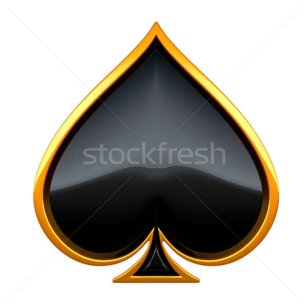 Spades card suits with golden framing Stock photo © Arsgera