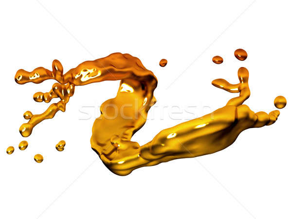 Splash of melted gold with drops Stock photo © Arsgera