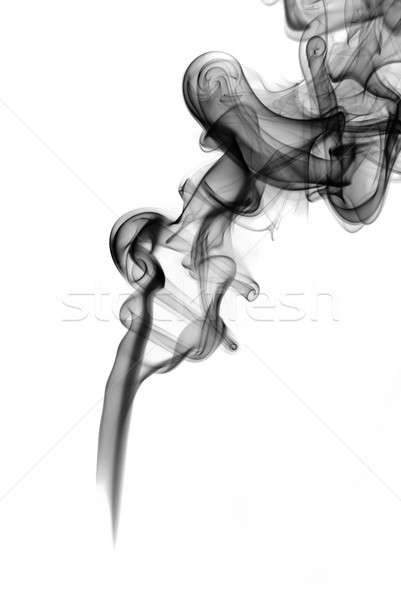 Abstract mysterious Fume shape on the white Stock photo © Arsgera