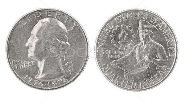 çeyrek dolar Amerika Birleşik Devletleri para sikke yalıtılmış Stok fotoğraf © Arsgera