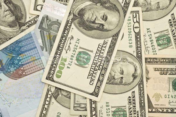 Abbondanza successo dollari euro dollaro euro Foto d'archivio © Arsgera