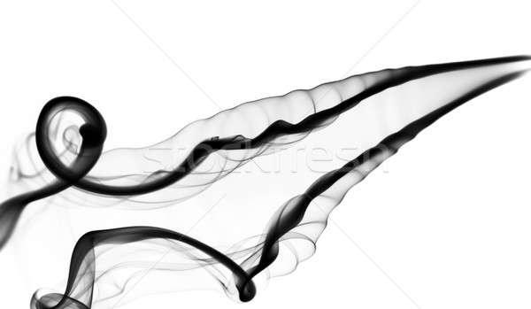 Gőz fekete füst absztrakció fehér absztrakt Stock fotó © Arsgera