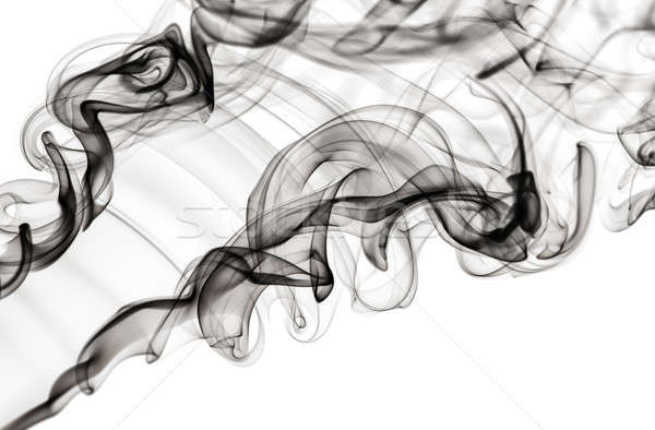 Abstract fume pattern: black smoke swirls and curves  Stock photo © Arsgera