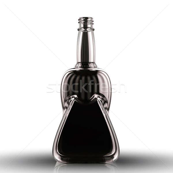 черный бутылку напитки белый пить алкоголя Сток-фото © Arsgera