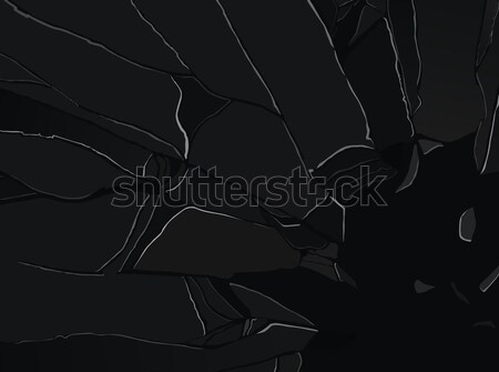 Sharp pieces of smashed glass on black Stock photo © Arsgera