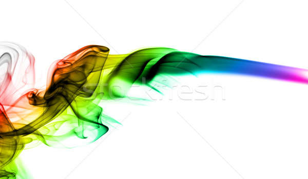 Abstract colorful fume shape on white Stock photo © Arsgera