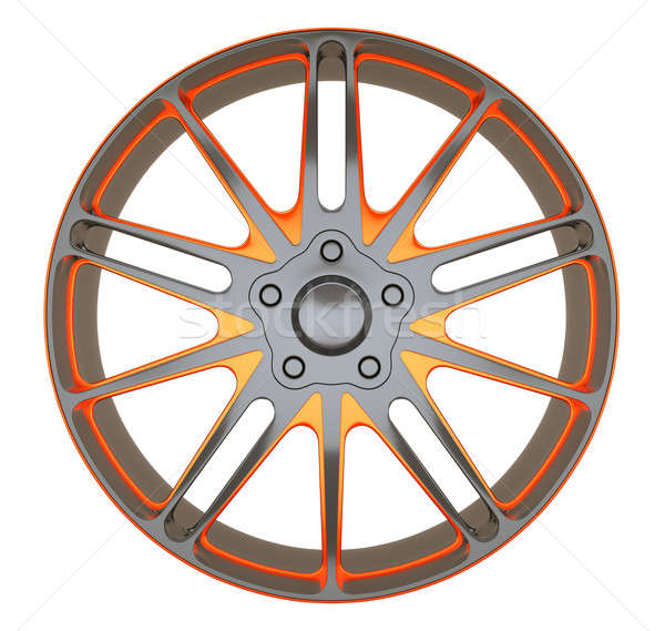 Alloy wheel or disc of sportcar isolated Stock photo © Arsgera