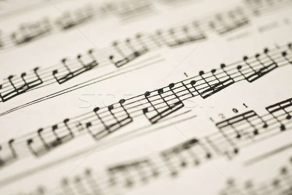 Classical music - notes on vintage sheet Stock photo © Arsgera