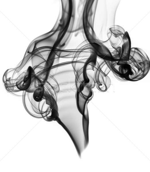 Blcak abstract smoke or fume shape on white Stock photo © Arsgera