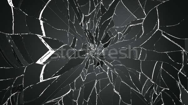 Vetro nero abstract design Foto d'archivio © Arsgera