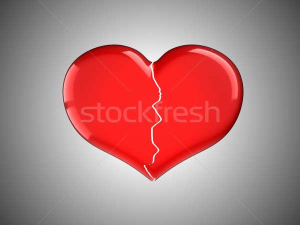 Perdido amor rojo gris corazón Foto stock © Arsgera