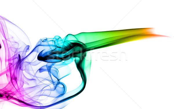 Colorido fumar abstração branco luz azul Foto stock © Arsgera