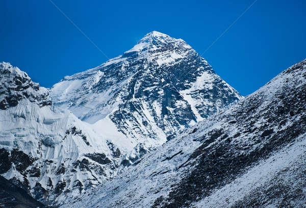 Everest dağ dünya gökyüzü manzara buz Stok fotoğraf © Arsgera