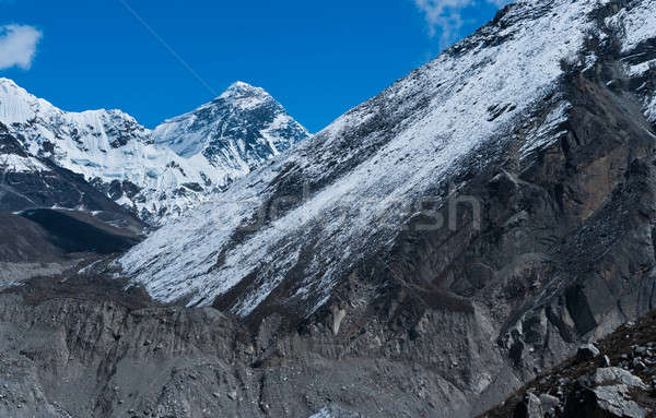 Everest or Chomolungma: highest peak in the world  Stock photo © Arsgera