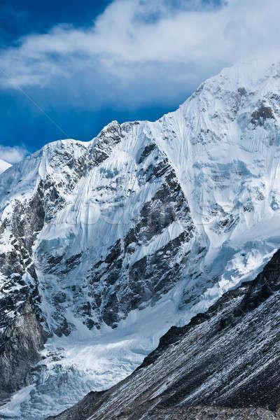 Montagna non lontano everest campo cielo Foto d'archivio © Arsgera