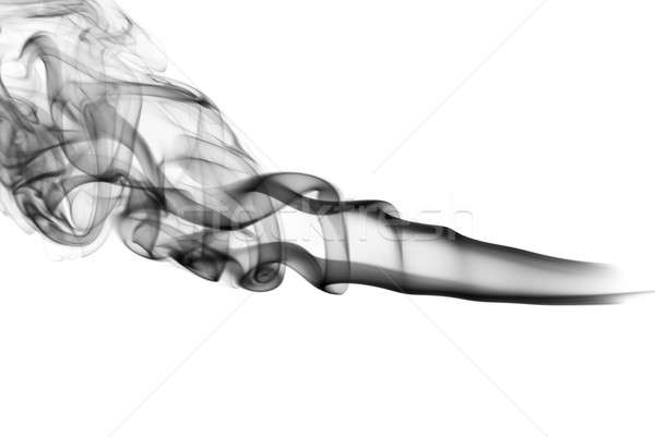 Abstraction. Fume shapes on the white Stock photo © Arsgera