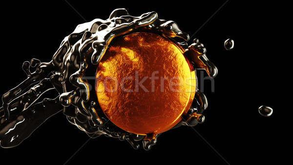 Olie-industrie stroom gouden munt business industrie Stockfoto © Arsgera
