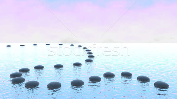 Harmony. Pebble path on the water Stock photo © Arsgera