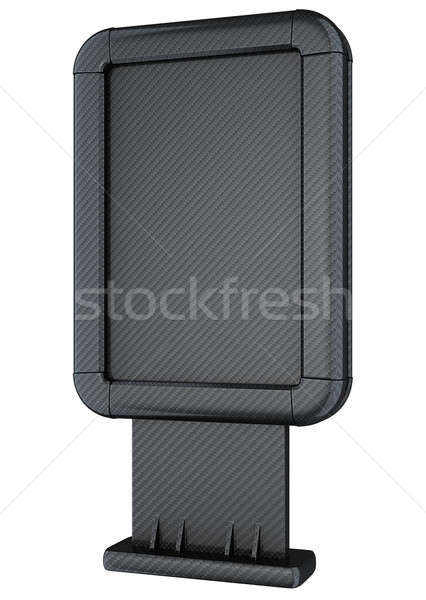 Carbon fibre billboard on stand isolated Stock photo © Arsgera