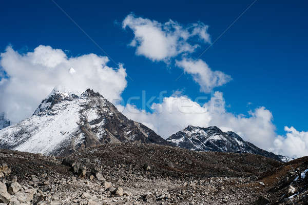 Nuages sacré lac himalaya randonnée Népal Photo stock © Arsgera